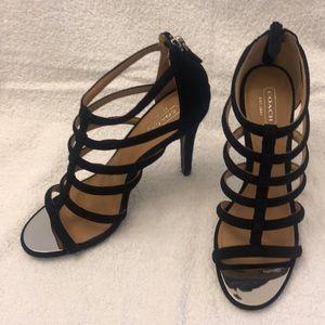 Coach leather gladiator heel